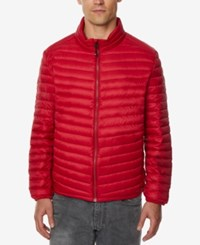 32 Degrees Men's Light Thin Packable Bomber Jacket A Macy's Exclusive Crimson