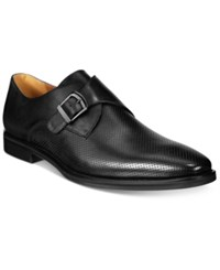 Alfani Men's Rowan Perforated Monk Strap Oxfords Only At Macy's Men's Shoes Black