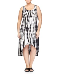 Marc Ny Performance Tie Dye High Low Tank Dress Black Alligator
