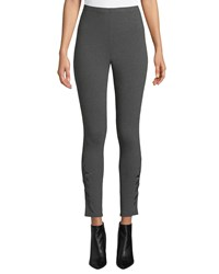 Johnny Was Darielle Tonal Embroidered Leggings Charcoal Grey