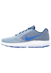 Nike Performance Revolution 3 Neutral Running Shoes Cool Blue Hyper Cobalt Coastal Blue White