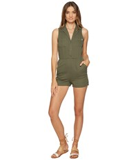 Obey Kingston Romper Light Olive Women's Jumpsuit And Rompers One Piece