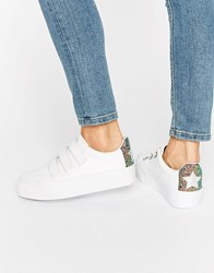 Asos Davius Novelty Trainers White Multi Glitter