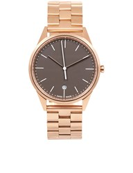 Uniform Wares Rose Gold Link Bracelet C36 Watch