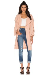 Kendall Kylie Lightweight Trench Coat Beige