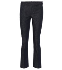Max Mara Mid Rise Slim Fit Stretch Jeans Blue