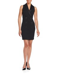 Jessica Simpson Sleeveless Double Breasted Sheath Dress Black