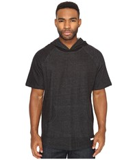 Akomplice Melo Short Sleeve Hoodie Black Men's Sweatshirt