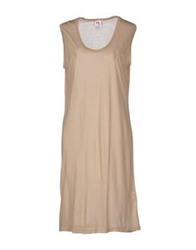 Scee By Twin Set Knee Length Dresses Sand