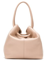 Mara Mac Leather Bucket Bag Neutrals