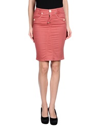 High Knee Length Skirts Pastel Pink