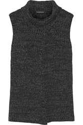 Thakoon Split Front Merino Wool Sweater