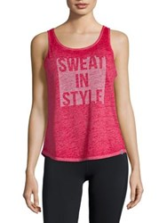 Marc New York Sweat In Style Tank Top Pink