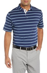 Bobby Jones Ferry Stripe Classic Fit Golf Polo Navy