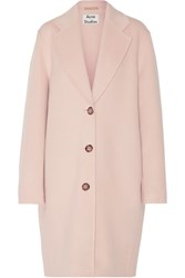 Acne Studios Landi Oversized Wool And Cashmere Blend Coat Pastel Pink
