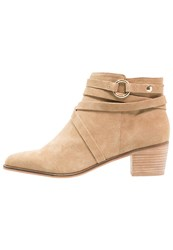 Miss Selfridge Astro Ankle Boots Brown