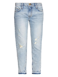 Current Elliott The Cropped Straight Low Rise Jeans