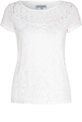 Alice And You Lace Layer Tee Cream
