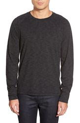 Men's 7 For All Mankind Crewneck Long Sleeve T Shirt Charcoal