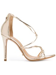 Schutz Ankle Length Sandals Metallic