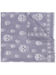 Alexander Mcqueen 'Skull' Scarf Pink And Purple