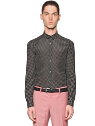 The Kooples Polka Dot Print Light Cotton Satin Shirt Black White