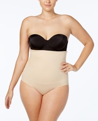 Maidenform Plus Size Fat Free Dressing Firm Control High Waist Brief 11854 Nude Nude 01