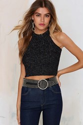 Nasty Gal Smash Knit Ribbed Crop Top