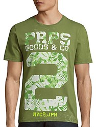 Prps Army Base Graphic Shirt Army Green