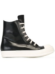 Rick Owens Hi Top Sneakers Black