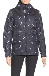 The North Face Women's Nevermind Waterproof Jacket Tnf Black Xo Print