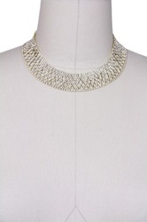 Saachi Austrian Crystal Banded Necklace