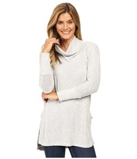 Mod O Doc Luxe Heather Sweater Slouchy Funnel Neck Pullover Ash Heather Women's Sweater Beige