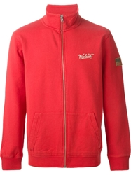 Woolrich Zip Up Sweater Red
