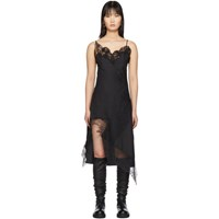 Marques Almeida Black Lace Slip Dress