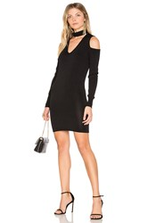 Central Park West Atlantis Cold Shoulder Sweater Dress Black