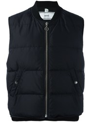 Ami Alexandre Mattiussi Sleeveless Down Jacket Black