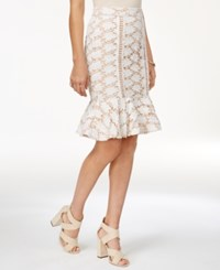 Endless Rose Lace Peplum Skirt Off White
