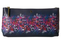 Elliott Lucca Artisan 3 Way Demi Clutch Indgio Bouquet Clutch Handbags Black