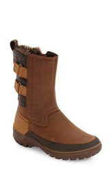 Merrell Women's Sylvia Waterproof Faux Fur Lined Boot Tan Leather