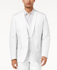 Inc International Concepts Men's Nevin Linen Blazer Only At Macy's White