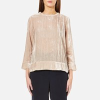 Samsoe And Samsoe Women's Christy Velour Top Pink Tint