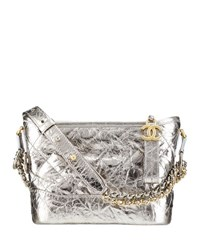 Chanel's Gabrielle Small Hobo Bag Silver