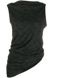 Rick Owens Lilies Sleeveless Draped Vest Top 60