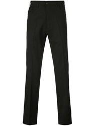 Second Layer Straight Tailored Trousers Black