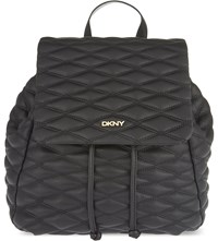 Dkny Gansevoort Quilted Leather Backpack Black