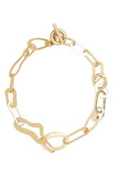 Madewell Women's Abstract Link Necklace Mixed Metal