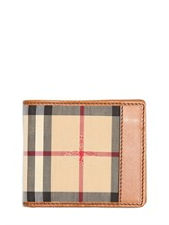Burberry Classic Check Nylon And Leather Wallet