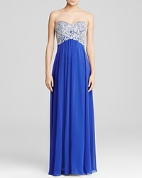 Decode 1.8 Gown Beaded Bodice Royal