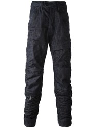 G Star Zip Detailed Jeans Blue
